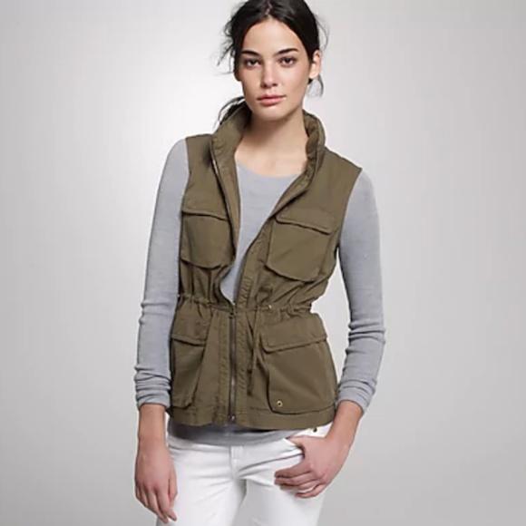 J. Crew Jackets & Blazers - J.Crew Twill Utility Vest
